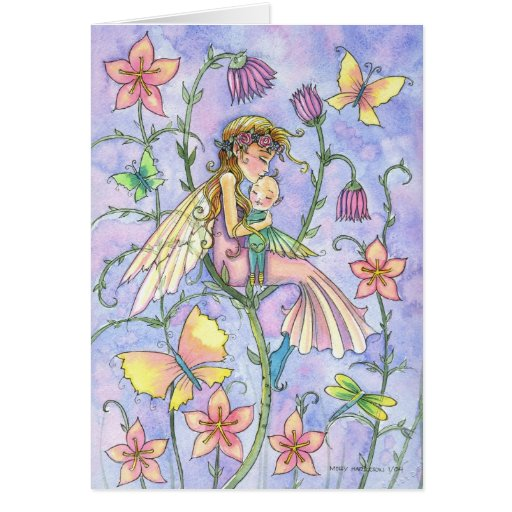Mother and Baby Fairy Greeting Card