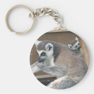 Mother and Baby Lemur keychain