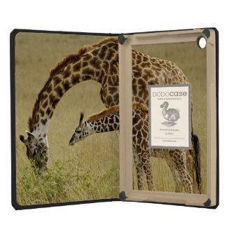Mother and baby Masai Giraffe, Giraffa iPad Mini Retina Cases