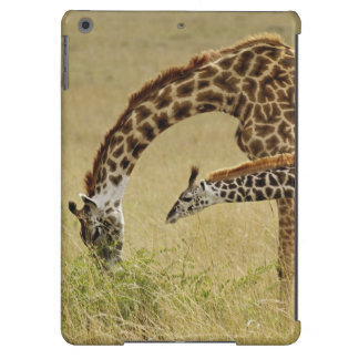 Mother and baby Masai Giraffe, Giraffa iPad Air Covers