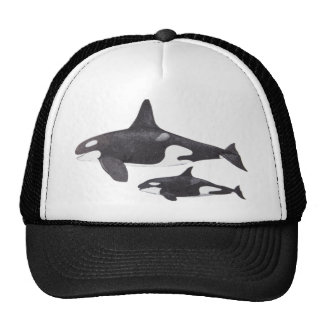 Mother and Baby Orca Cap