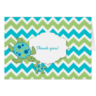 Mother and Baby Sea Turtles Boy Thank you notes