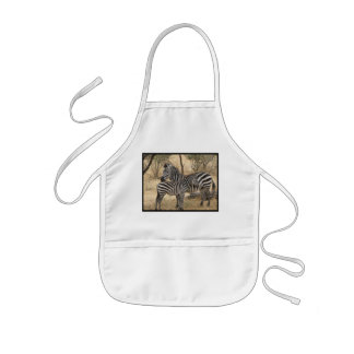 Mother and Baby Zebra  Children's Apron