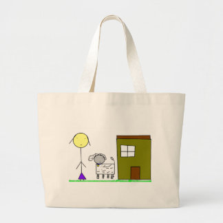 Mother and cachorrinha large tote bag
