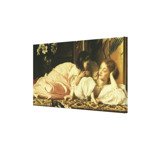 Mother and Child (aka Cherries) by Lord Leighton Stretched Canvas Prints