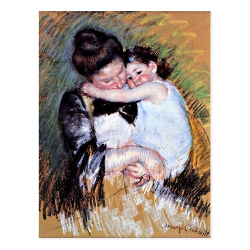 Mother and Child  - Artwork by Mary Cassatt, 1900 Postcards
