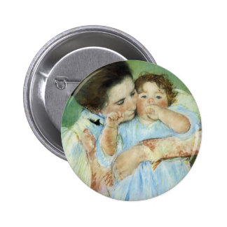 Mother and Child 6 Cm Round Badge