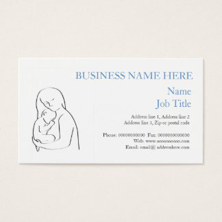 Mother and child business card