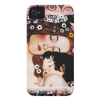 Mother and Child by Gustav Klimt Collage iPhone 4 Case-Mate Case