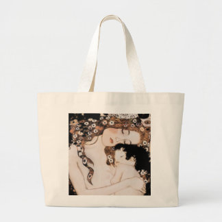 Mother and Child by Gustav Klimt Jumbo Tote Bag