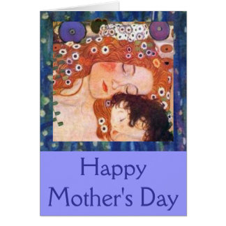 Mother and Child by Klimt Card