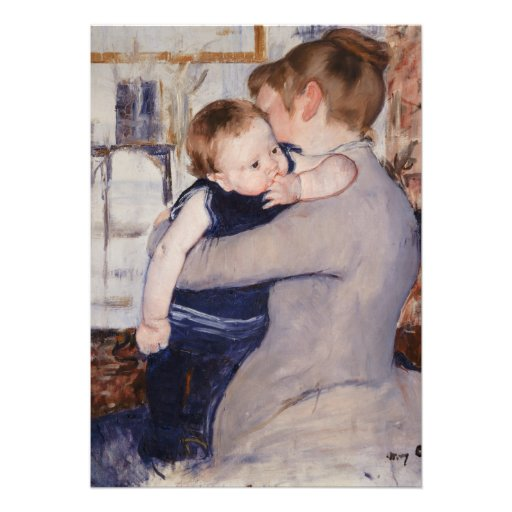 Mother and Child by Mary Cassatt Personalized Invitation