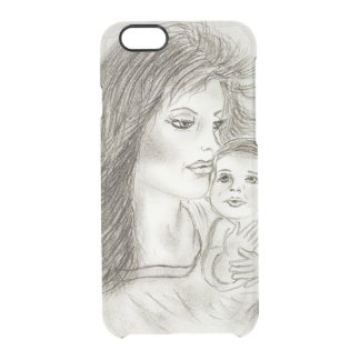 Mother and child clear iPhone 6/6S case