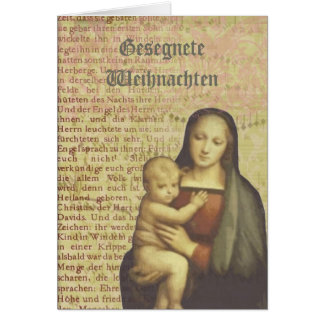 Mother and Child Collage Christmas Card