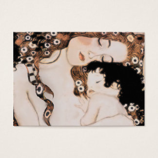 Mother and Child Gustav Klimt Business Card