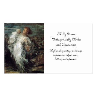 Mother and Child in White Double-Sided Standard Business Cards (Pack Of 100)