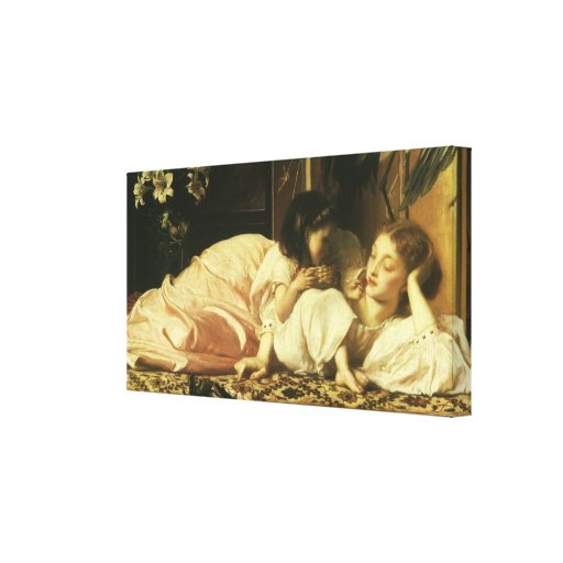 Mother and Child, Leighton, Vintage Victorian Art Stretched Canvas Prints