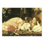 Mother and Child, Leighton, Vintage Victorian Art 13 Cm X 18 Cm Invitation Card
