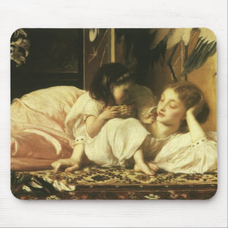 Mother and Child, Leighton, Vintage Victorian Art Mouse Pad