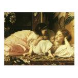 Mother and Child, Leighton, Vintage Victorian Art Postcard
