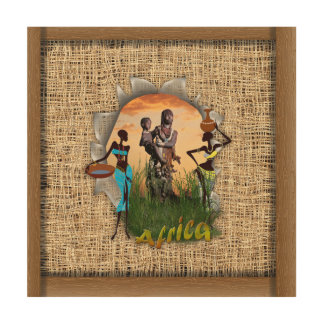 Mother and child of Africa Wood Wall Art