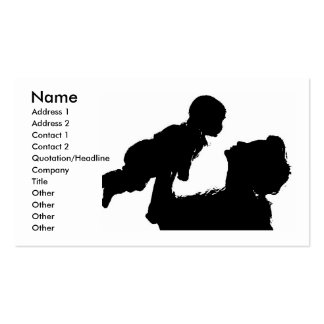 Mother And Child Profile Card Pack Of Standard Business Cards