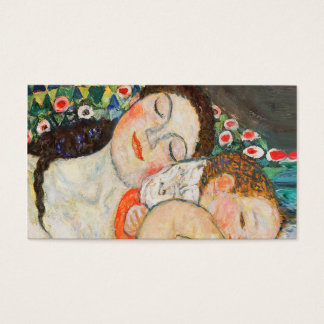 Mother and Child Sleeping Business Card