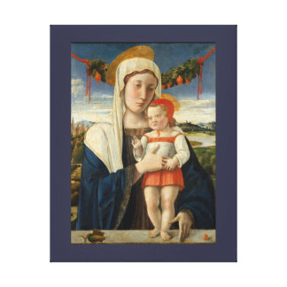 Mother and Child Under Garland Canvas Print