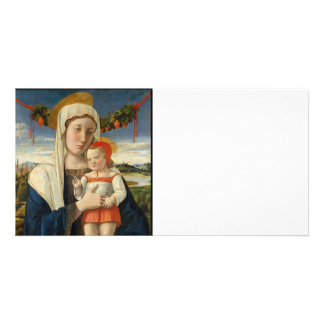 Mother and Child Under Garland Personalised Photo Card