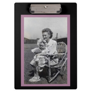 Mother and Child Vintage Clipboard