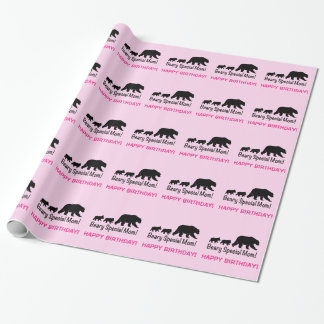Mother and Cubs Happy Birthday Wrapping Paper