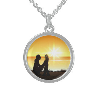 Mother and Daughter at Sunset Necklace