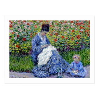 Mother and Daughter in Garden Postcard