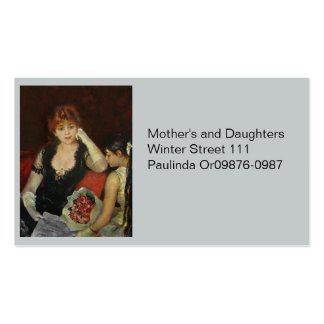 Mother and Daughter with Flowers Pack Of Standard Business Cards