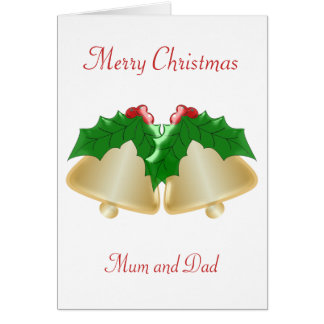 Mother And Father Christmas Greeting Card