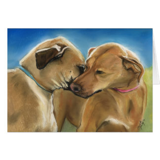 """Mother and Son Reunion"" Rhodesian Ridgeback Card"