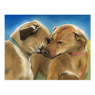 """Mother and Son Reunion"" Rhodesian Ridgeback Postc Postcard"