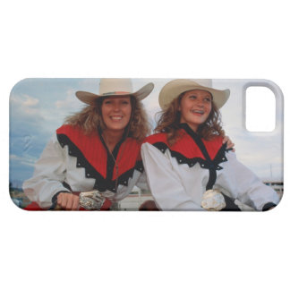 Mother and teenage daughter (14-16) at rodeo, iPhone 5 case