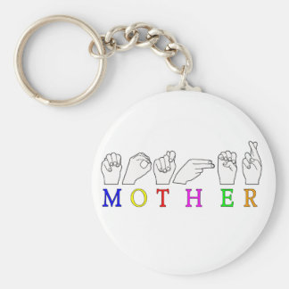 MOTHER    ASL FINGER SPELLED KEY RING