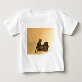 Mother & Baby Baboons - Wildlife Monkeys Primates Baby T-Shirt