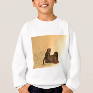 Mother & Baby Baboons - Wildlife Monkeys Primates Sweatshirt
