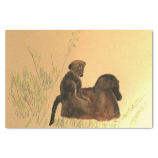 Mother & Baby Baboons - Wildlife Monkeys Primates Tissue Paper