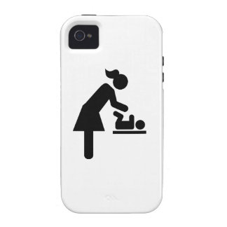 Mother baby diaper vibe iPhone 4 cases