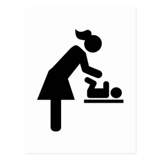 Mother baby diaper post card