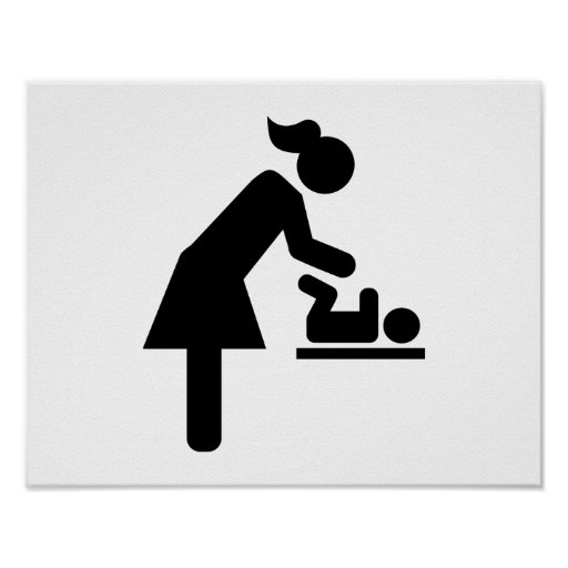 Mother baby diaper posters