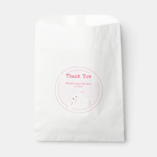 Mother & Baby Girl Bunny | Baby Shower Thank You Favour Bag
