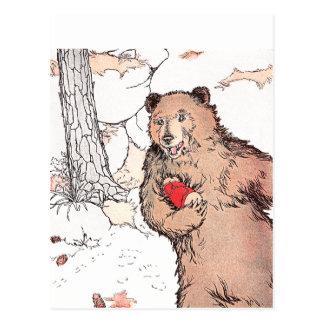 Mother Bear Carrying Prairie Dog Postcard