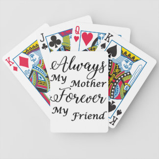 mother bicycle playing cards