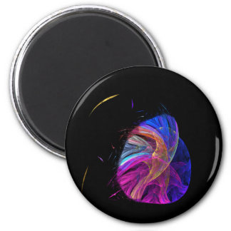 Mother Bird and Her Egg Fractal 6 Cm Round Magnet
