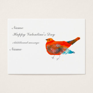 Mother Bird Valentine's ACEO card